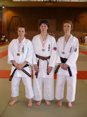 Les médaillées en kata senior féminins