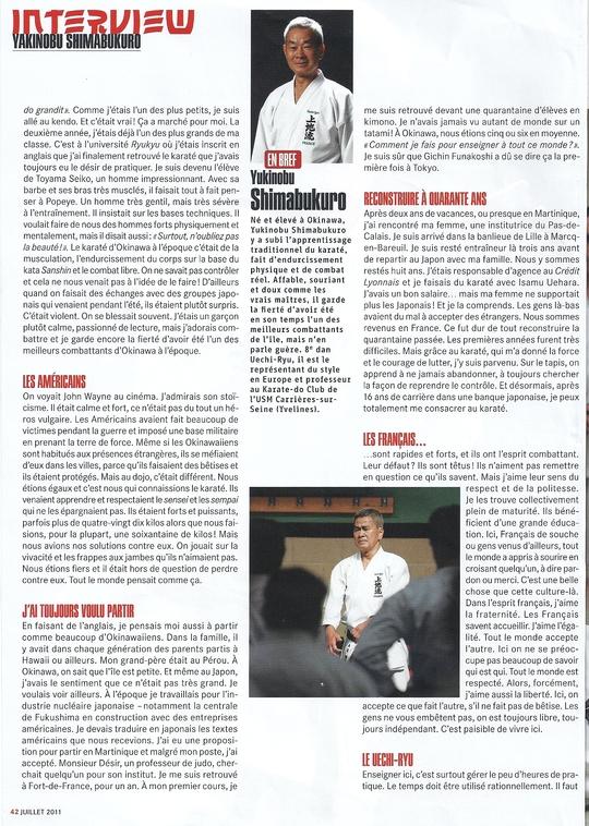 revista de la página de karate 5