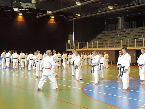 training with Master Shimabukuro